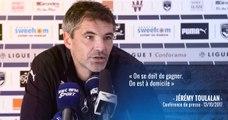Jérémy Toulalan face à la presse avant Bordeaux-Nantes