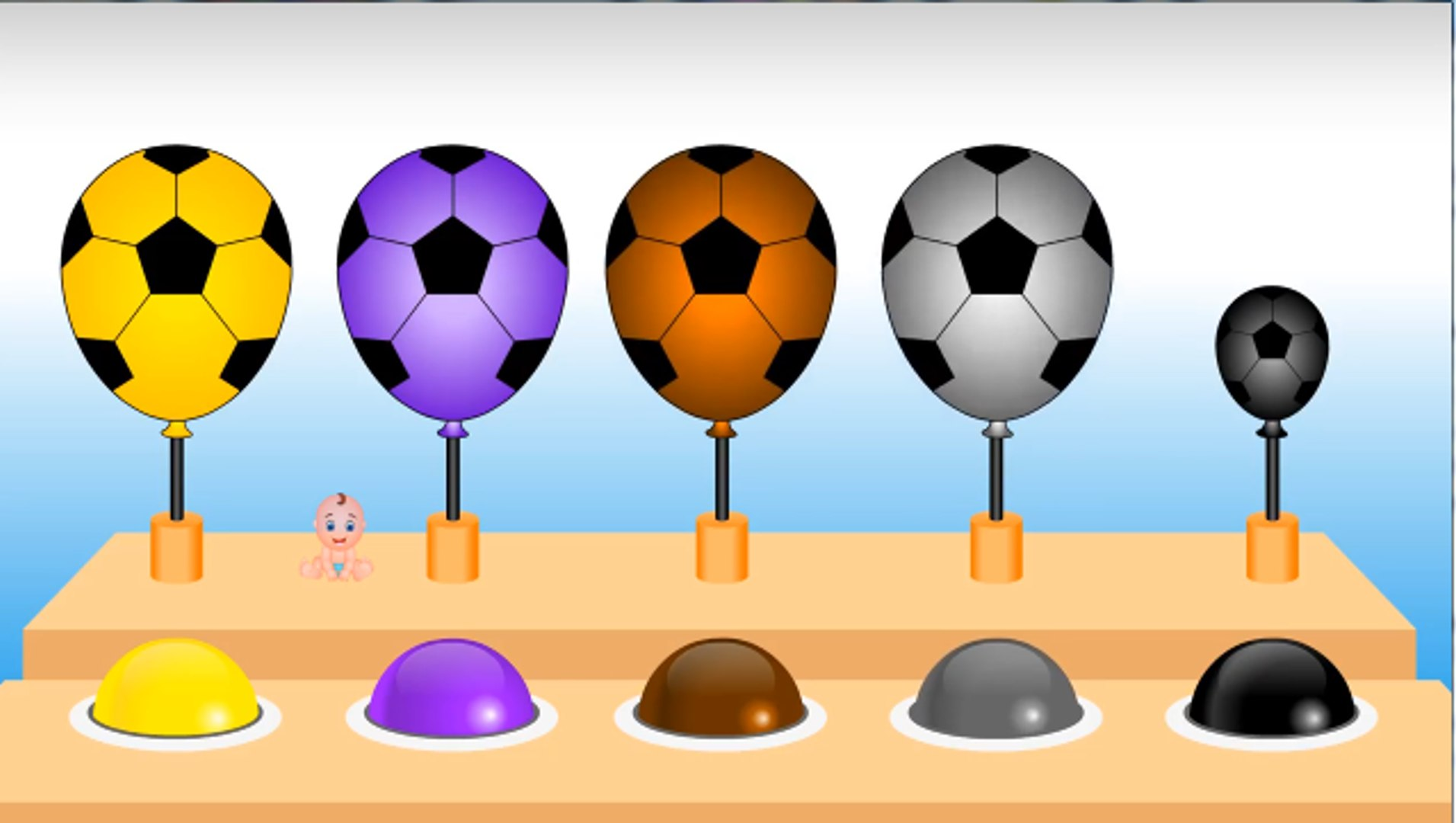 Learn Colors with Lollipop Soccer Balls Popping Show for Kids - Kids Children Toddlers Babies Video