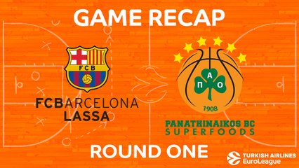 EuroLeague 2017-18 Highlights Regular Season Round 1 video: Barcelona 98-71 Panathinaikos