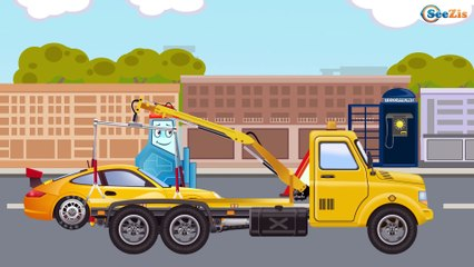 The Monster Truck and Racing cars - The Big Race in the City of Cars Cartoons for Children