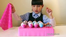 There was 10 Kinder Surprise Eggs in the bed Roll Over Unboxing Disney Princess My little Pony