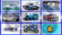 Learning Videos Cars for Kids Transportation sounds FIRE ENGINE,AMBULANCE,TAXI,POLICE CAR
