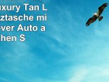 iPad Air 2 Hülle FusionTech Luxury Tan Leder Schutztasche mit Smart Cover Auto aufwachen