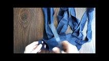 Как сделать коврик из старой одежды/Mat from old clothes