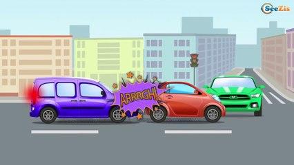 Новые Мультики про машинки для Детей. Полицейская и цветные машинки Авария на Детской площадке
