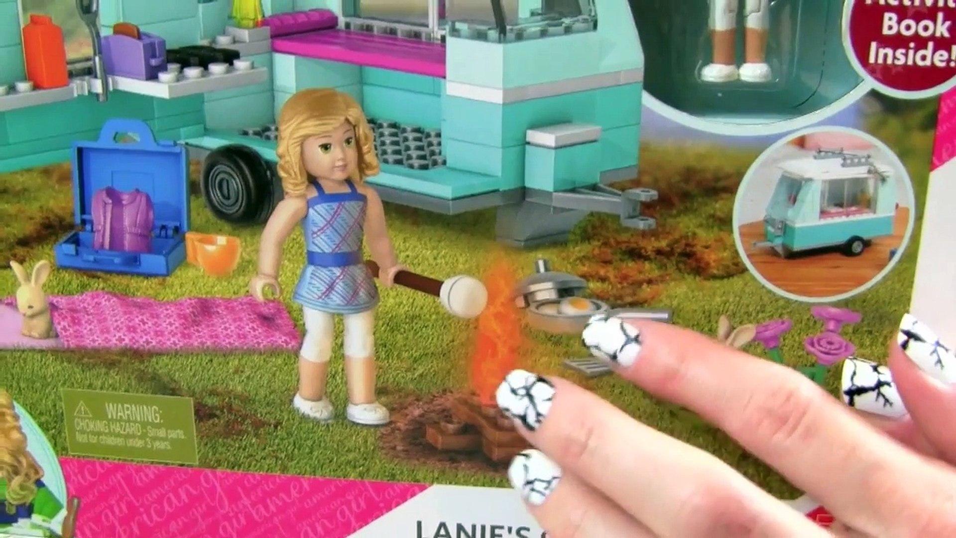 American Girl Mega Bloks Lanies Camping Trip! LIKE LEGOS! NEW 2016 American Girl Mega Construx