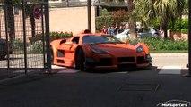 BLONDE CHICK drives Gumpert Apollo S in Monaco | CRAZY BURNOUTS + DRIFTS!