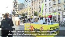 """Nucléaire: Greenpeace dénonce des """"piscines en carton"""""""