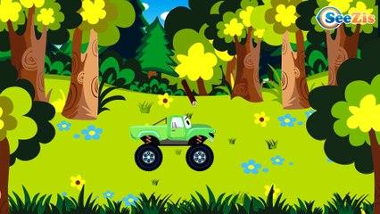 El Camión es Amarillo y La Excavadora infantiles - Caricatura de Carritos Para Niños