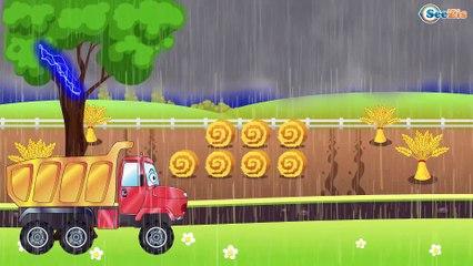 Carros de Carreras es Rojo y El Camión de bomberos infantiles - Caricatura de Carritos Para Niños