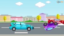 la Voiture de course   Monster Truck, Voiture de police   Dessins animés pour enfants