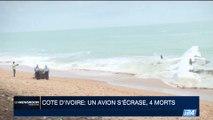 Côte d'Ivoire: un avion s'écrase, 4 morts