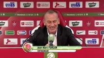 Réaction de Jean-Marc Furlan et Francis Gillot après Stade Brestois 29 - AJ Auxerre