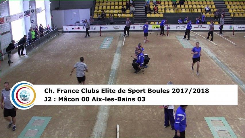 Premier tour, tir rapide en double, Club Elite Masculin J2, Mâcon vs Aix-les-Bains, octobre 2017