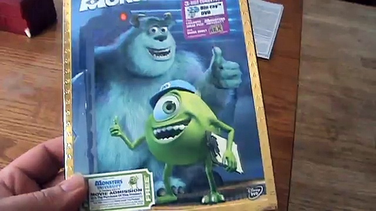 Monsters Inc Blu Ray Unboxing 影片 Dailymotion