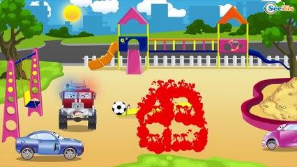 The Brave Fire Truck and Super Cars - Monster Truck TV - Cars & Trucks for Kids
