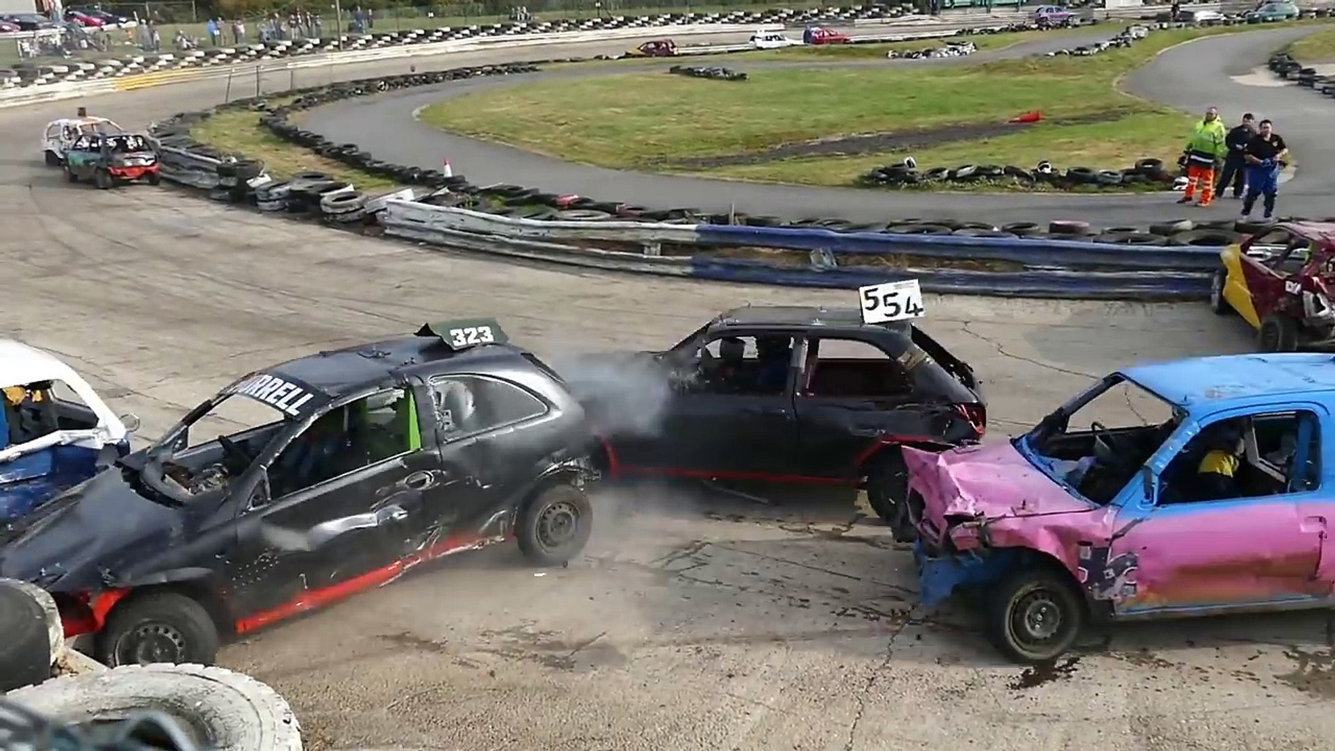 Banger Racing Angmering Oval Raceway World Final Highlights 30/10/2016
