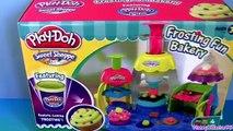 Play Doh Frosting Fun Bakery Set Sweet Shoppe Bake Cupcakes Play-Doh Doceria Mágica playdough Hasbro