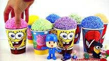 Slime Goo Minecraft Peppa Pig Pocoyo Cartoon Surprise Cups Toys StrawberryJamToy