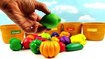 Toddler Learning Video for Kids Learn Colors Fruits & Veggies Sorting Fruits Vegetables Toy Basket