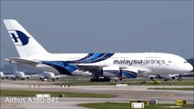 Malaysia Airlines Airbus A380 Takeoff from Kuala Lumpur International Airport