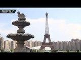 Mini-Paris in China: Drone buzzes over Eiffel Tower replica in 'ghost town' Tianducheng