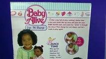 BABY ALIVE Sip n Slurp Compilation:Unboxing+We have Fun with Baby Alive SIP N SLURP feeding+changing
