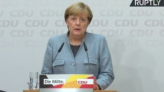 LIVE: Merkel speaks to press day after German federal election