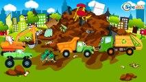 Carros de Carreras es Rojo y El Coche de Policía infantiles - Caricatura de Carritos Para Niños