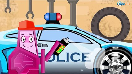 La Super rapide Voiture de POLICE et les de la volées de Course | Dessins animés