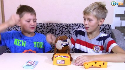 Dog VS Boys! The Bad Dog Game Beware of the Dog Flake Out Playing | Family Fun Game for Kids!