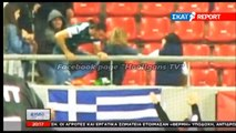 Olympiakos supporters beat Panathinaikos fan during Greece - Gibraltar 10.10.2017