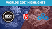 Highlights: EDG vs C9 - Worlds 2017 Group Stage
