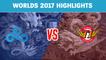 Highlights: C9 vs SKT - Worlds 2017 Group Stage