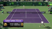 Tennis Elbow new Sony open tennis - Rafael Nadal vs Tomas Berdych - Miami open new gameplay