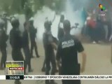 México: Cerca de 40 normalistas fueron detenidos durante manifestación