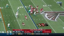 Can't-Miss Play: Atlanta Falcons quarterback Matt Ryan unleashes a deep bomb to wide receiver Marvin Hall for 40-yard TD
