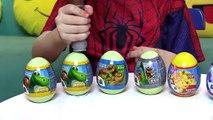 Homem Aranha Thor Abre Ovos Surpresas Peppa Pig Frozen - Spiderman Kids Surprise Eggs Toys
