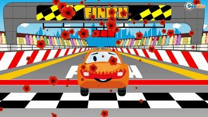 The Racing Car   Kids Cartoon   Street Vehicle   Compilation for kids