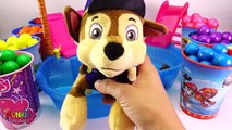 Best Learning Colors Video for Children - Paw Patrol Skye & Chase Takes Candy Gumball Bath Bath Tub