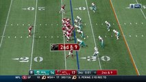 Atlanta Falcons running back Tevin Coleman bursts up the middle on 20-yard gain