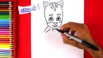 How to Draw Catboy from PJ Masks - How to Draw Step by Step