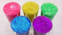 Learn Colors Slime Clay Surprise Toys Cocktail Glitter Slime DIY Disney perry Tayo Frozen