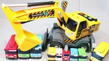Excavators Tayo the Little Bus Disney Cars English Learn Numbers Colors Toy Surprise