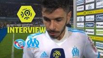 Interview de fin de match : RC Strasbourg Alsace - Olympique de Marseille (3-3)  - Résumé - (RCSA-OM) / 2017-18