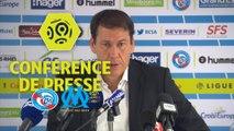 Conférence de presse RC Strasbourg Alsace - Olympique de Marseille (3-3) : Thierry LAUREY (RCSA) - Rudi GARCIA (OM) / 2017-18
