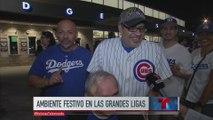 Grandes Ligas: ambiente festivo entre fanáticos del beisbol