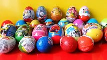 Surprise Plastic Eggs, Kinder Surprise, Skylanders,Thomas, Spongebob, Spiderman, Hello Kitty