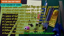 How to make fathers day 3D Flower Pop Up Card | Pop up Flower Greeting Cards | Pop up Flower Card