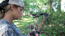 Pregnant Mom Hunts Massive Boar with new Bow!!!